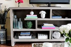 console table tv stand how to style your tv stand or console table pretty in the pines