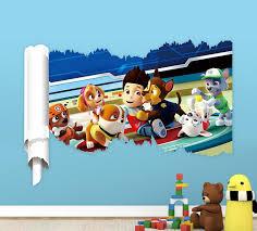 Paw Patrol Room Decor Aliexpress Com Buy 3d Cartoon Slide Heigh Wall Stickers For Kids