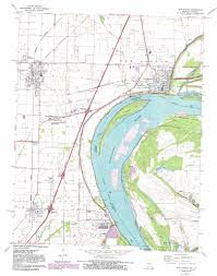 Missouri Road Map New Madrid Topographic Map Mo Ky Usgs Topo Quad 36089e5