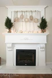 19 christmas decorating mantels natural chestnut wooden