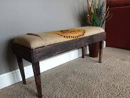 diy burlap cushioned pallet bench pallet furniture plans