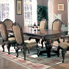 Coaster Dining Room Table Saint Charles 7 Piece Dining Set In Brown Finish By Coaster 100131