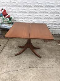 expandable game table vintage 1958 small wood expandable kitchen game table antiques in