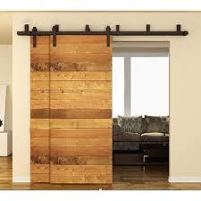 4ft 16ft sliding barn door hardware kit closet rail roller set