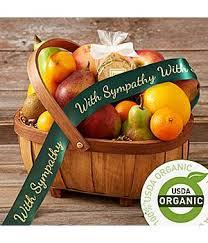organic fruit basket condolence baskets