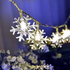 10m 33ft 80 led lights battery operated snowflake led