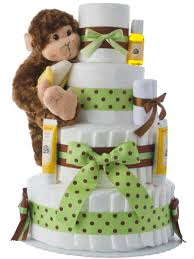 diper cake monkey 4 tier cake unique cake gifts for shower
