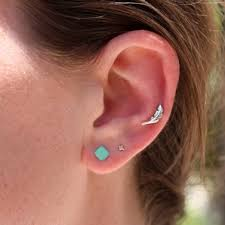 feather stud earrings a best seller beautiful sterling silver feather ear helix