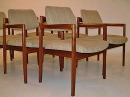 jens risom vintage dining chairs set of six 1950 s ca danish in
