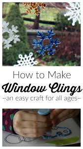 how to make window clings an easy craft for all ages frugal