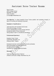 Sonographer Resume Samples Resume Samples Assistant Horse Trainer Resume Sample