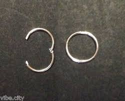 silver sleeper earrings solid 925 sterling silver hoop sleepers earrings 5 sizes made in