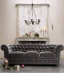 canape chesterfield velours decoration canapé chesterfield velours gris anthracite déco