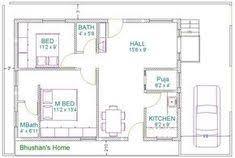 home design for 30 x 30 plot 30x40 2 bedroom house plans plans for east facing plot vastu