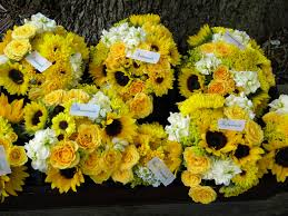 wedding flowers sunflowers wedding flowers from springwell sunflowers for and david s
