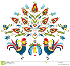 traditional design embroidery roosters polish motives pinterest traditional