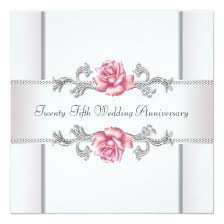 pink roses silver 25th wedding anniversary 5 25 5 25 square paper