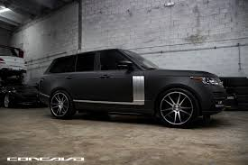 land rover matte matte black range rover concavo cw s5 the auto firm
