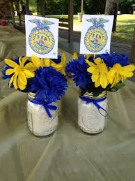 banquet decorating ideas for tables 19 best ffa banquet images on pinterest banquet ideas blue gold