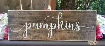 pumpkins sign thanksgiving decor fall autumn by signsbyjen