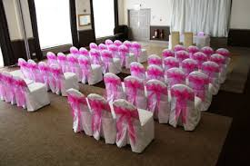 pink chair sashes amberly s white chair covers with hot pink oganza sashes