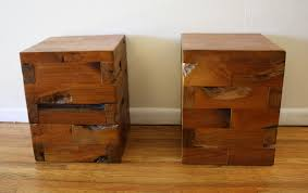 unique end table ideas industrial salvaged wood side end tables picked vintage