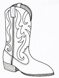 boot coloring page shoes storytime pinterest cowboys craft