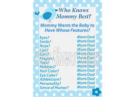 bird theme baby shower game who knows mommy best game