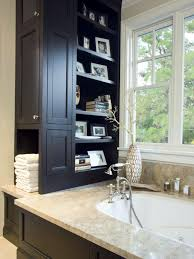 How Tall Are Bathroom Vanities Tall Bathroom Cabinets Hgtv