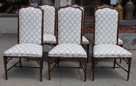 set of eight henredon faux bamboo dining chairs at 1stdibs