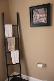bathroom wall shelves for towels grey stained wooden shelf for