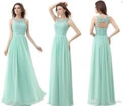 mint bridesmaid dresses mint green chiffon cheap bridesmaid dresses 2015 neck a line