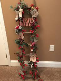 tobacco stick ladder decorated for christmas christmas decor