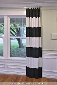 Black And White Striped Curtains Diy Black White Horizontal Stripe Draperies Lined Pinch