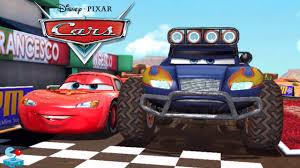 disney cars monster trucks vs lightning mcqueen tow mater and