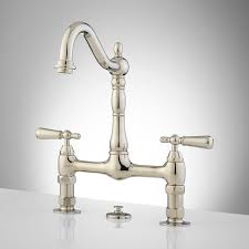 329240 side bridge kitchen faucet lever pn jpg on polished nickel