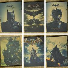 online get cheap batman wall stickers black aliexpress com 2016 new custom batman arkham origins joker black nice home decor retro poster wall sticker
