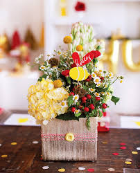 Baby Shower Flower Centerpieces by Classic Modern Winnie The Pooh Baby Shower Hostess With The