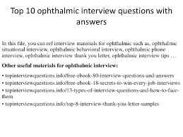 Medical Scribe Resume Example by Top 10 Ophthalmic Interview Questions With Answers