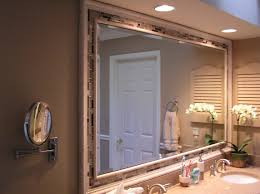 large sized diy mirror ideas installed at contemporary bathroom