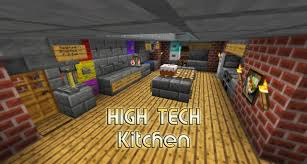 high tech kitchen house small and easy minecraft project