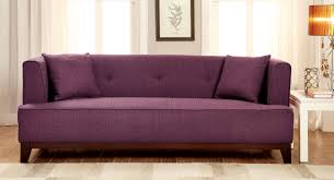Purple Sofa Pillows by Furniture Of America Tenue Tuxedo Style Sofa