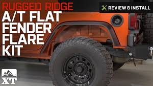 jeep wrangler rugged ridge a t flat fender flare kit 4 piece