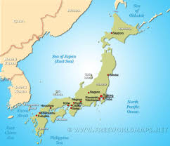 East Asia Political Map Japan Map