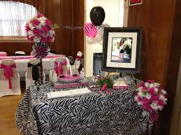 Quinceanera Table Centerpieces Quinceanera Zebra U0026 Pink Decoration Ideas Seshalyn U0027s Party