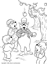 coloring u0026 activity pages apple falling on papa bear u0027s head