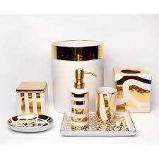 elegant silver or gold bathroom accessories luxurious porcelain