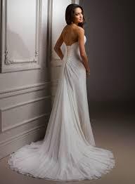 buy cheap flower trimmed chiffon court train 2013 wedding dress