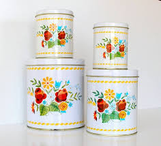 vintage metal kitchen canister sets 272 best canister sets images on kitchen canisters
