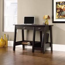 Trestle Computer Desk Sauder Trestle 2 Drawer Desk Jamocha Wood Walmart Com